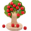 Wooden Apple Tree Magnetic Baby Children Montessori Learning Educational Math Toys K415