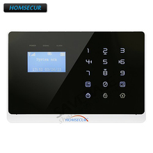 HOMSECUR DIY 433Mhz Wireless YC06 B GSM PSTN Alarm System by PIR Sensor Door Sensor Alarm