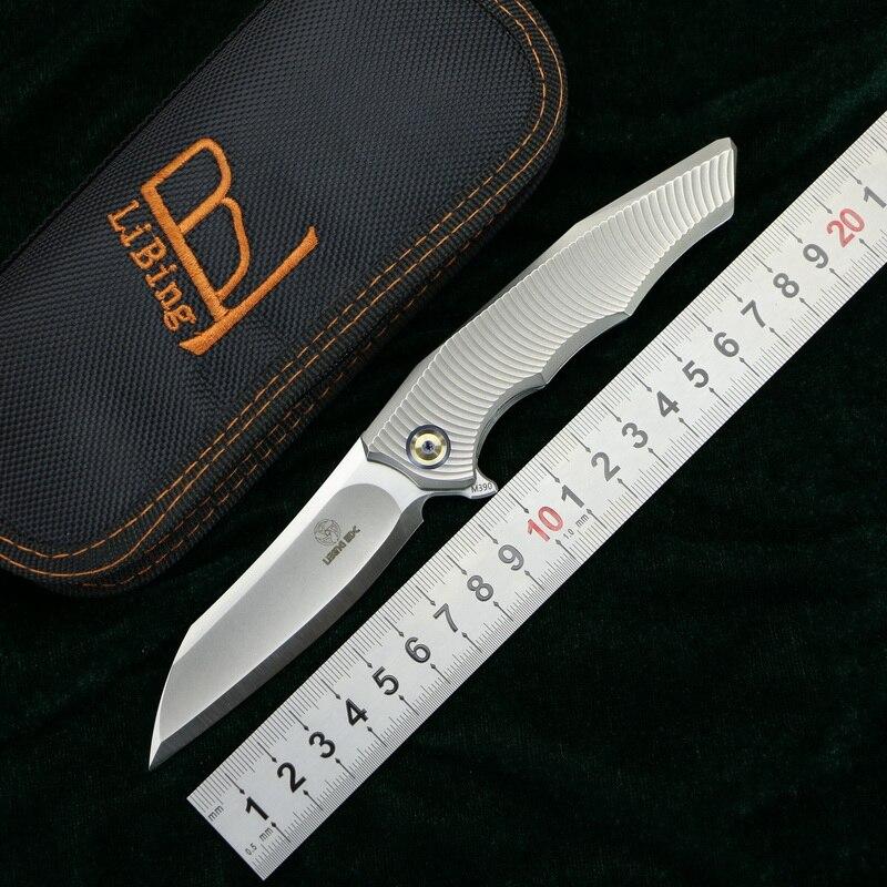 LiBing EDC Origina Alien Flipper couteau pliant m390 Lame Titane poignée camping en plein air chasse fruits poche survivre couteaux