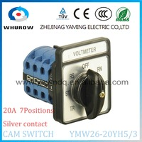 7 Position Selector Switch Voltmeter CA10 20A 3 Poles 7 Position Rotary Switch YMW26 20YH5 3