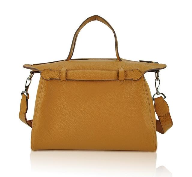 Women Genuine Real Cow Leather Handbag Doctor Saddle Bag Fashion Purse Shoulder Satchel Designer Daily Work Lady Free Shipping