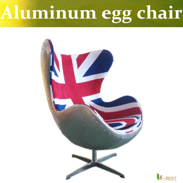 u best leisure arne jacobsen egg chair in red wool aluminum egg pod chair for the lobby and reception areas of the royal hotel U-BEST  Arne Jacobsen Retro & Swivel Egg Chairs ,High Quality Retro aluminum  Global Chair