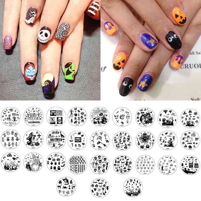 New Arrival Halloween Christmas Manicure Template Nail Art Printing Image Polish Stamp Plate For DIY Halloween Decoration