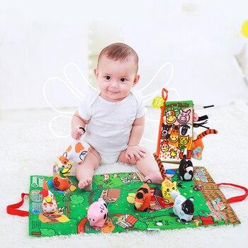 Kinder Baby Weich Aktivität Entfaltung Tuch Tier Tails Bücher Säuglings Frühen Pädagogisches Spielzeug für Kinder 0-12 Monat Geschenk WJ407