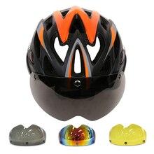 LUNA Magnética Gafas de Bicicletas Casco In-mold Casco de Ciclista Con Lente Ultraligero Casco Ciclismo Bicicleta Casco de 55-61 CM 3 Colores