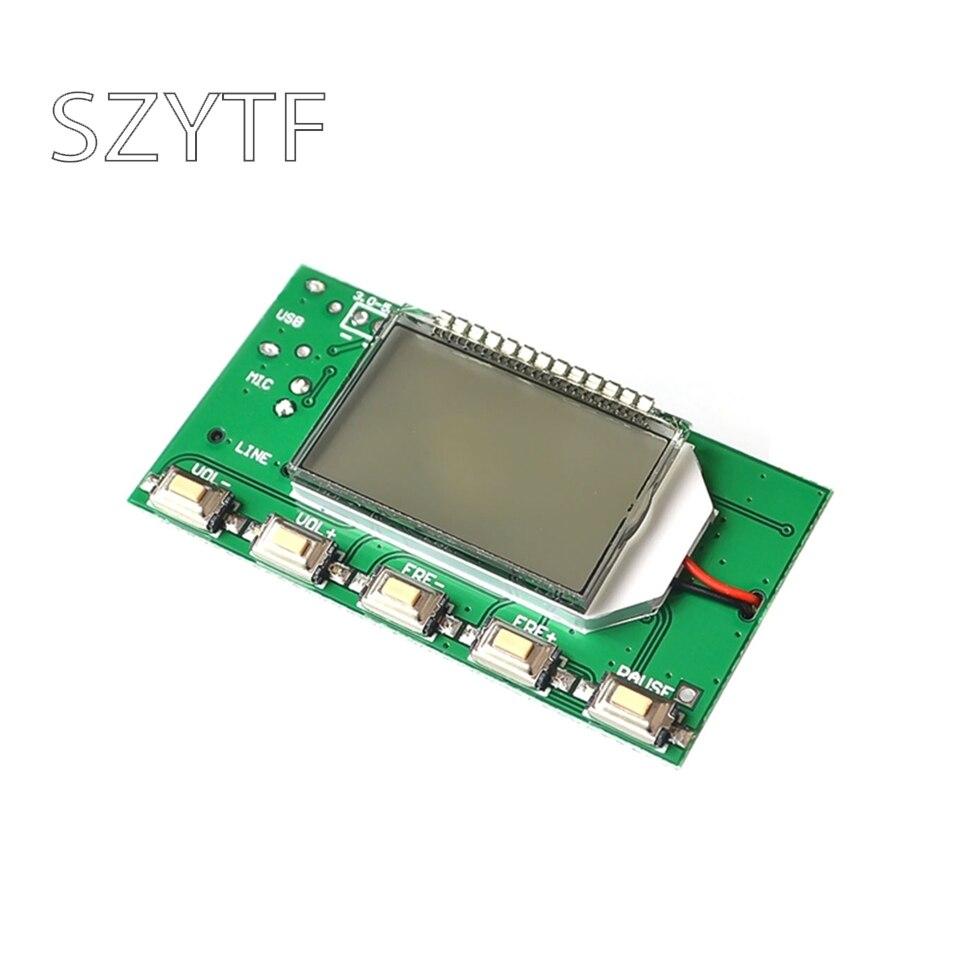 DSP PLL 87-108 МГц многофункциональный FM стерео передатчик Модуль/микрофон беспроводной передатчик/беспроводной микрофон модуль