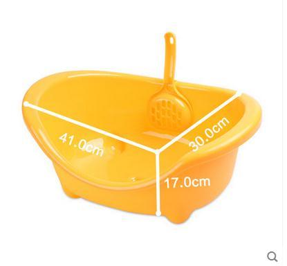 Кошка туалет полузакрытый бассейна кошачьих туалетов кошка чаши Размеры: 41*30*17 см