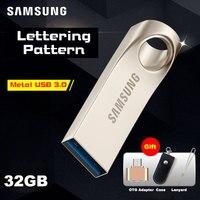 Samsung USB Flash Drive Disk USB 3.0 32G Pen Drive In Metallo Lettering personalizzato usb3.0 Memoria Piccolo Bastone di Memoria 32 gb pendrive U Disk