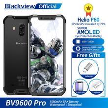 "Blackview BV9600 Pro IP68 Waterdichte Mobiele Telefoon Helio P60 6GB + 128GB 6.21 ""19:9 AMOLED 5580mAh android 9.0 Robuuste Smartphone"