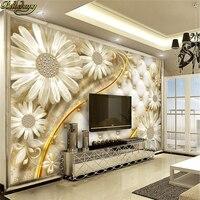 Beibehang Przezroczyste kwiaty luksusowe biżuteria tle fototapety ścienne na zamówienie duży mural naklejki ścienne papel de parede