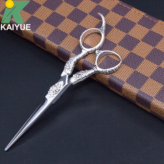 High Quality Hair Scissors 6 INCH Hair Cutting Scissors Silvery Scissors Hairdressing Scissors With Bag Simple Packing GX04-60-P