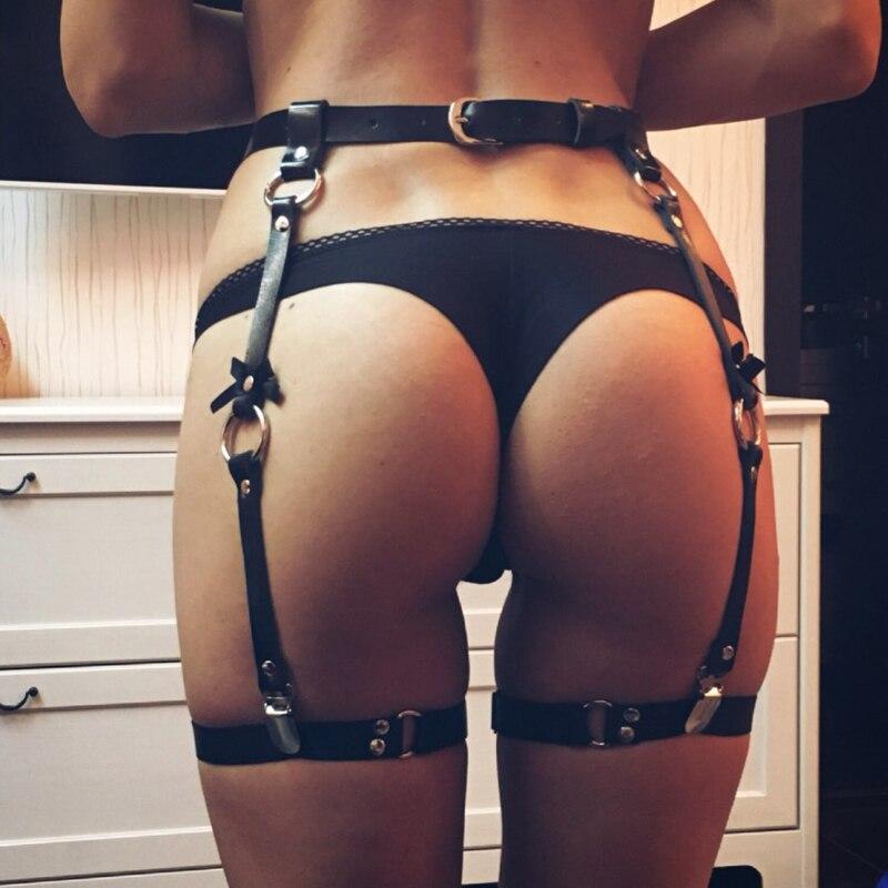 Sexy Women Leather Waist Garter Belt 4