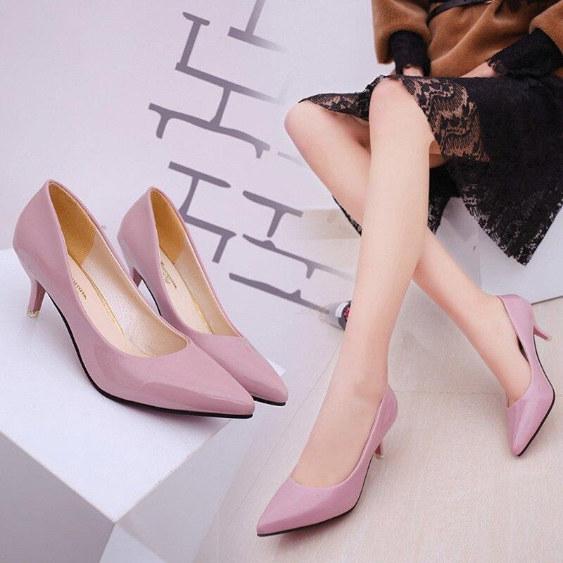 HENGSONG אופנה עירום לקדש פה סקסי אופנה נשים נעלי משרד עקבים גבוהים נעליים יומיומיות עבור גבירותיי נקבה OR913370