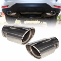 2Pcs 2 5 63mm Stainless Steel Chrome Car Exhaust Tail Muffler Rear End Tip Pipe For