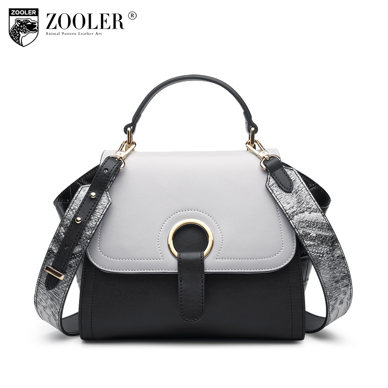 ZOOLER 11-11 hot 2017 NEW women leather bag woman leather bags top handle 100% cowhide large capacity bolsa feminina#c130 zooler 2018 new stylish woman leather handbag shoulder messenger bag lady clasp closure top handle bag bolsa feminina h129