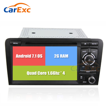 2G RAM Android 9 OS 7 Inch Car DVD Player For Audi A3 S3 With Wifi GPS FM Radio Navigation System Autoradio Stereo Head Unit image