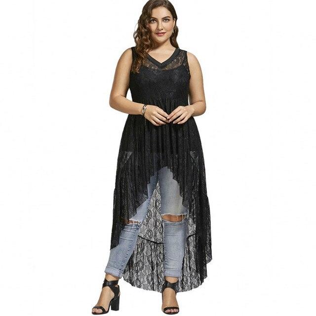 f6aeb8ec263b Wipalo Plus Size 5XL Sexy Lace V Neck Dress Women Clothing Lace Perspective  Sleeveless Elegant Evening Party Dress Big Size 2018 free shipping worldwide
