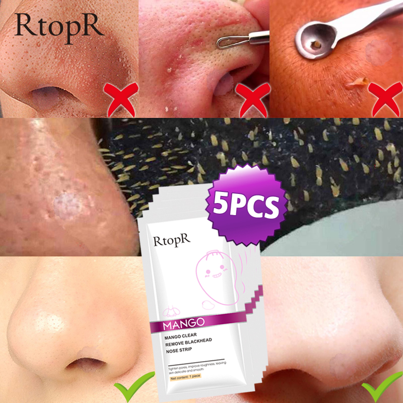 5pcs/lot Blackhead Remover Nose Mask Pore Strip Black Mask Peeling Acne Treatment Face Mask Deep Cleansing Oil-control Skin Care