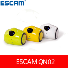 ESCAM Робот QN02 WI-FI Беспроводная Ip-камера HD Движения Baby Monitor IP Cam Встроенный Микрофон И Динамик лучше, чем YI Купольная Камера