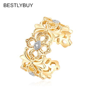 BESTLYBUY 2018 Chinese Style Original New Elegant Gold Golor Ring 925 Sterling Silver Novelty Ring For Women Girl Anillos Mujer