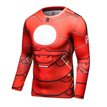 Fitness Top 3D Printed Iron Man Gym Shirt Compression T-shirt Male Tights Tshirt Jersey Men Clothes Training Workout Clothing
