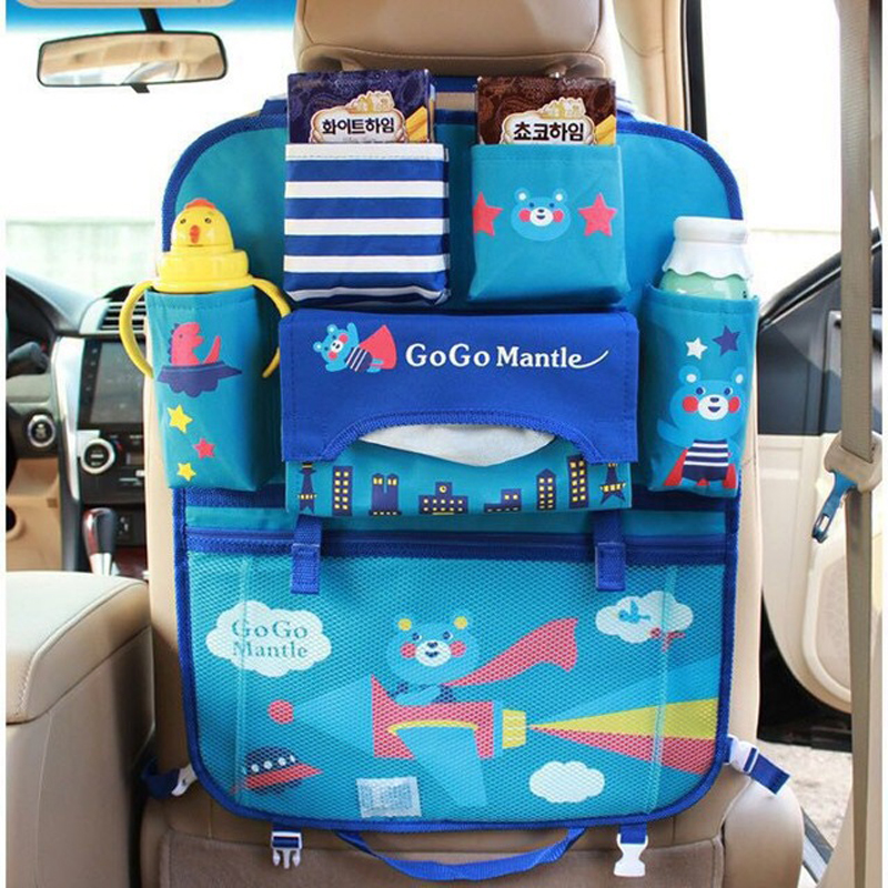 Baby Kids Car Seat Bag Car Headrest Holder Tablet Wallet Multi-Pocket Travel Storage Mummy bags Back Car Seat Multi-Pockets seat sack 00124 standard 14 in seat sack plus multi pocket
