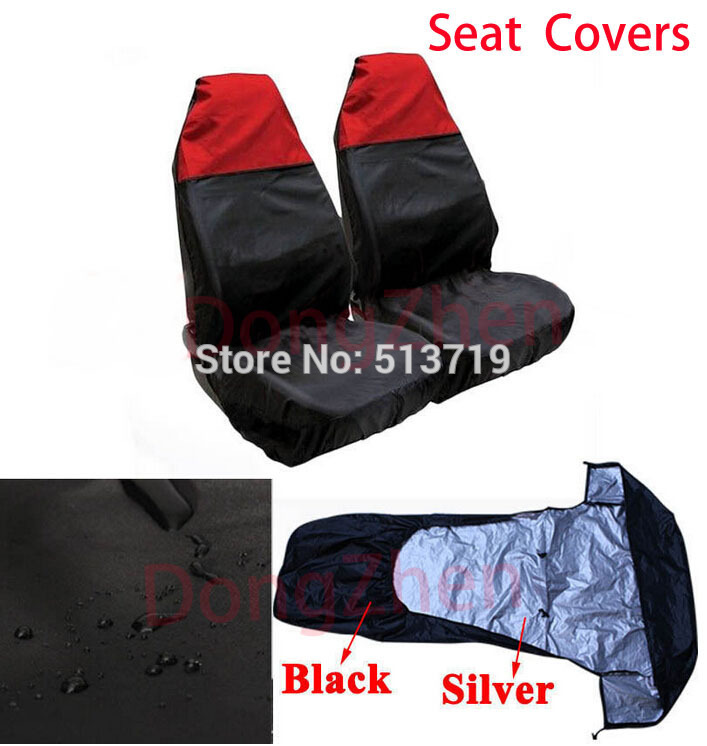 Dongzhen 1X Water Resistant Universal Front Car Seat Protectors Covers For Ford BMW VW B ...