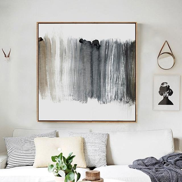 1 Panneau Affiche Abstraite Sans Cadre Toile Scandinave Peinture Art  Nordique Impression Mur Photo Pour Salon