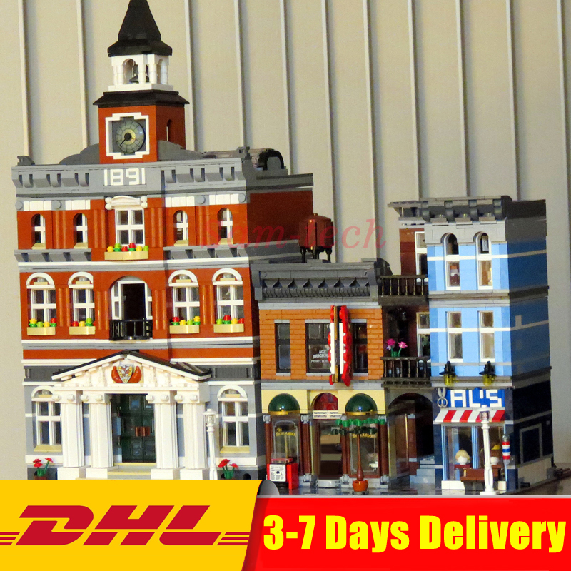 DHL Lepin Clone 10224 10197 City Street Series 15003+15011 Building Blocks Bricks Model Toys For Children Birthday Gifts lepin 02064 404pcs city series jungle semi track car model building blocks bricks toys for children action figures