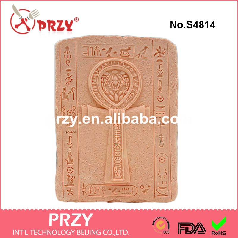 Silica gel ANKH 2D Silicone Soaps Mold Food-grade Cross chapter Soap Mold Custom Silicon ...