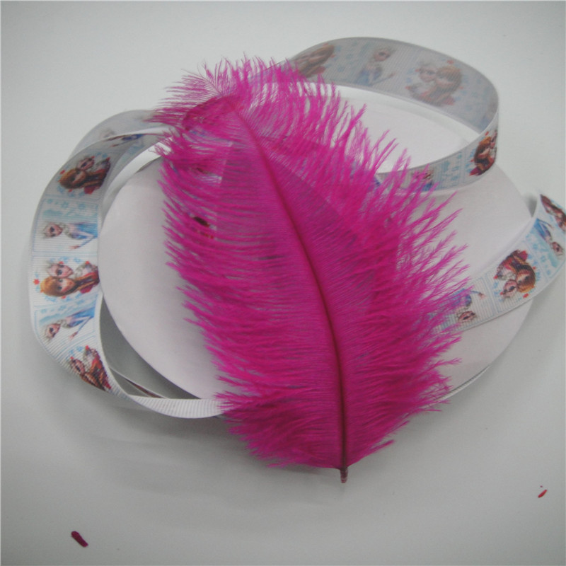 50 PCS beautiful natural 15-20 cm (4 to 6 inches) dye mei red feather ostrich hair DIY decoration process