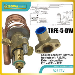 123kw disassemble R23 thermal expansion valve matches 110m3/h coolant compressors, such as 6H-25.2Y,D6DL-270X or HG6/1240-4