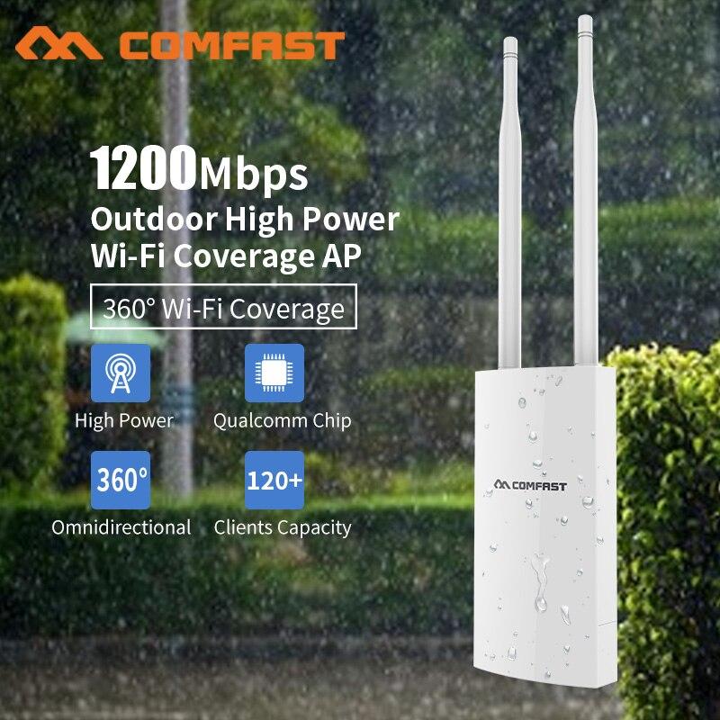 Comfast High Power Gigabit Outdoor Weatherproof 27dbm Wireless Wifi Router/AP Repeater 5.8G 2*5dBI External Antenna Client Route comfast cf wu881nl usb 2 0 network card w external 5dbi antenna black