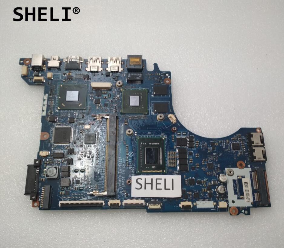 SHELI For DELL L412Z Motherboard with I7-2640M with Discrete Video Card LA-7451P