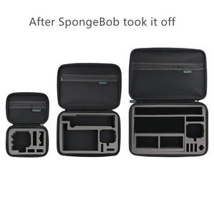 Image 2 - Portable Carry Storage Bag Protective Case Box 3 Size Handbag For GoPro Hero 8 7 6 5 4 3  Xiaomi YI Sjcam Accessories Camera Bag
