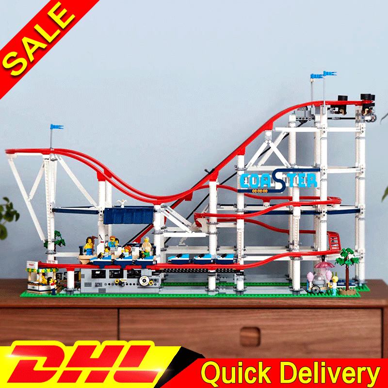 New LEPIN 15039 The roller coaster Set Playground Large Model Kids legoings Toys Building Blocks Bricks For Children Gifts 10261 new lepin 23015 science and technology education toys 485pcs building blocks set classic pegasus toys children gifts