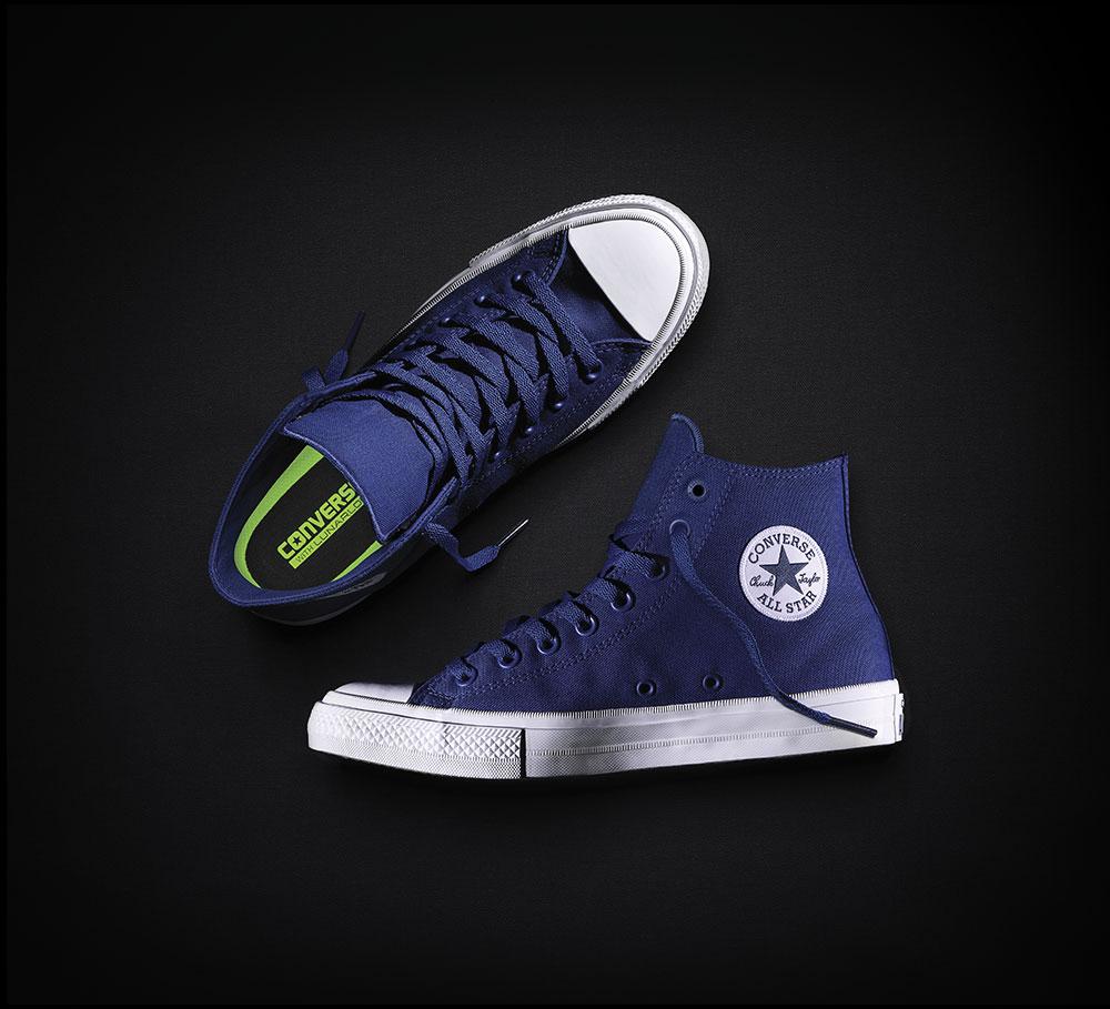 f108fe49be3f0 Nouvelle Converse Chuck Taylor All Star II haute hommes femmes baskets  chaussures en toile classique couleur pure chaussures de skateboard 150143C  dans ...