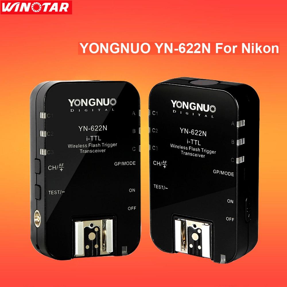 Yongnuo YN622N YN 622 YN-622 i-TTL wireless flash trigger transceiver for Nikon D7500 D7200 D5600 D750 D610 camera flash light 2pcs yongnuo yn622n ii yn622n tx i ttl wireless flash trigger transceiver for nikon camera for yongnuo yn565 yn568 yn685 flash