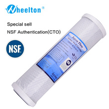Wheelton Activated Carbon Cartridge Reduce Chlorine Taste Odor Water Filter NSF Filter 10 Inch Cartridge Replacement Purifier