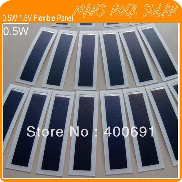0.5W 1.5V 197x60mm Flexible Thin Film Solar Panel Module, Waterproof, Lighweight, Easy to Install, Flexible, Reliable Parameter