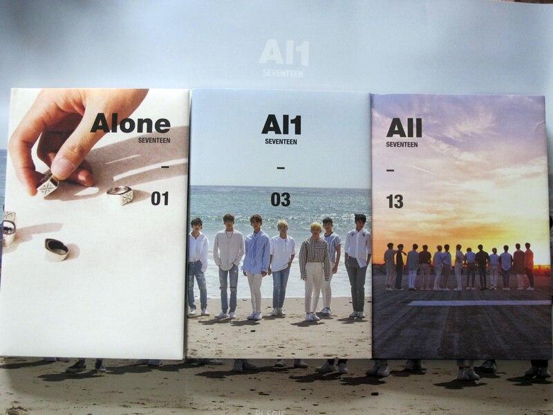 Signed SEVENTEEN autographed 2017 mini4th album AL1 + photobook+signed poster 052017