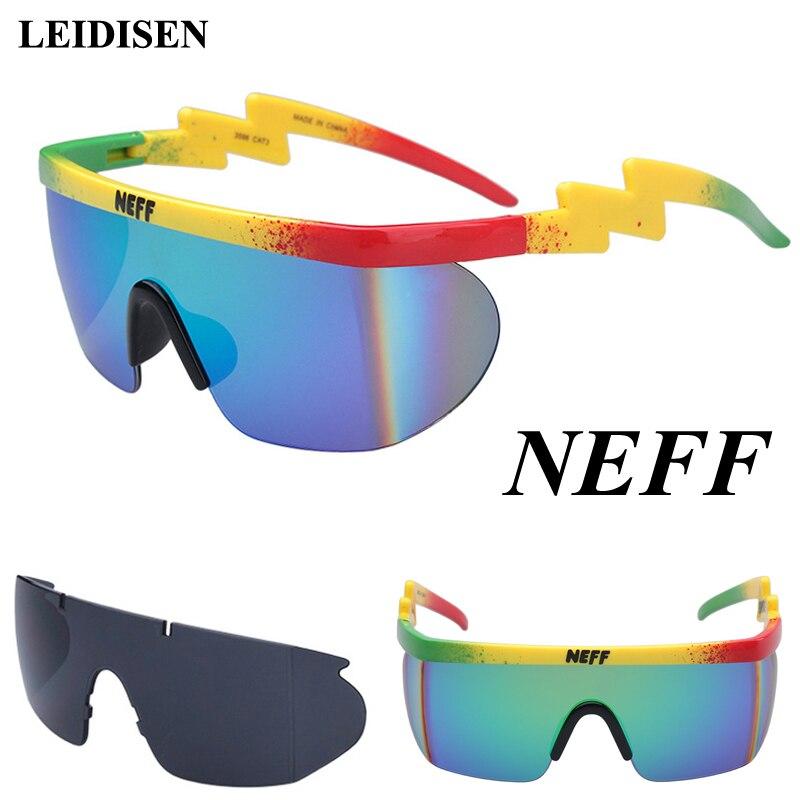 Nouvelle marque De mode Neff lunettes De soleil hommes/femmes Oculos De Sol Vintage lunettes De soleil revêtement lunettes conduite 2 lentille Gafas Feminino
