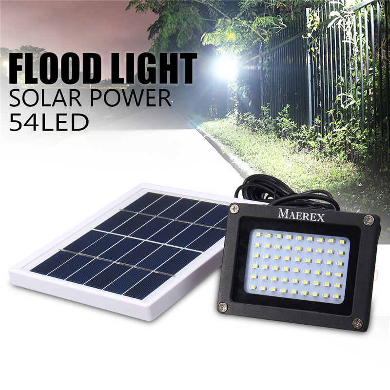 Mising Solar 54 LEDs Dark Sensor Solar Light Solar Lamp Light Spotlight Wall Lamps Floodlight Outdoor Emergency Flood Light ...