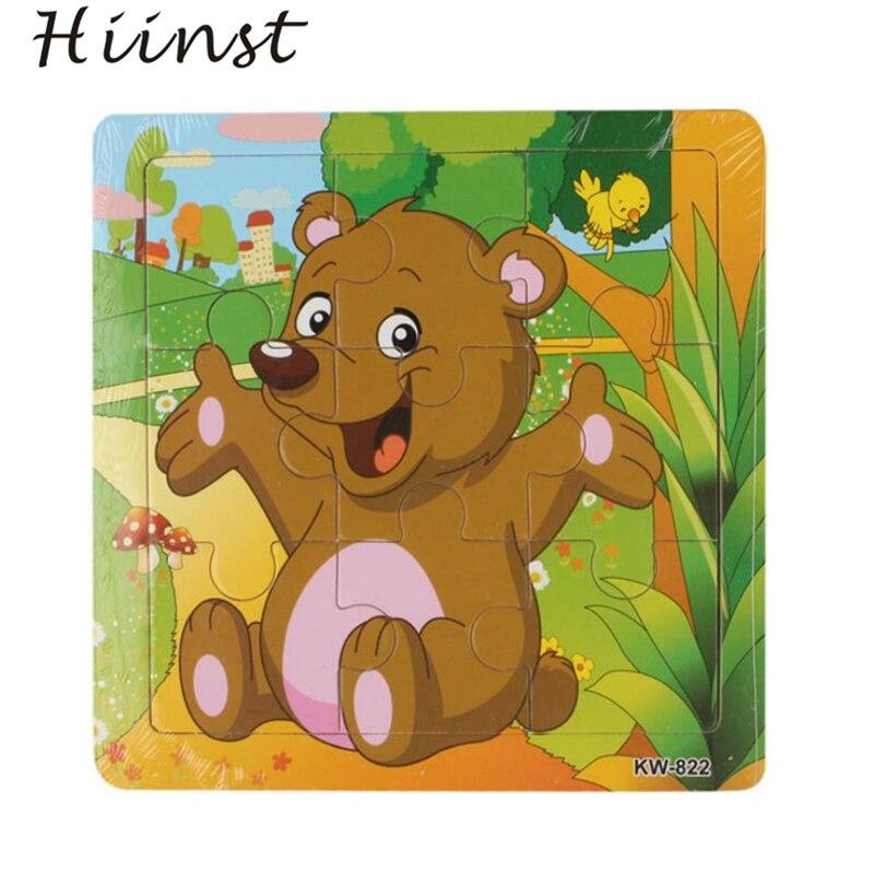 Деревянный медведь головоломки игрушки для детей образования и обучения преподавания Пазлы игрушки Прямая доставка подарок 18mar23