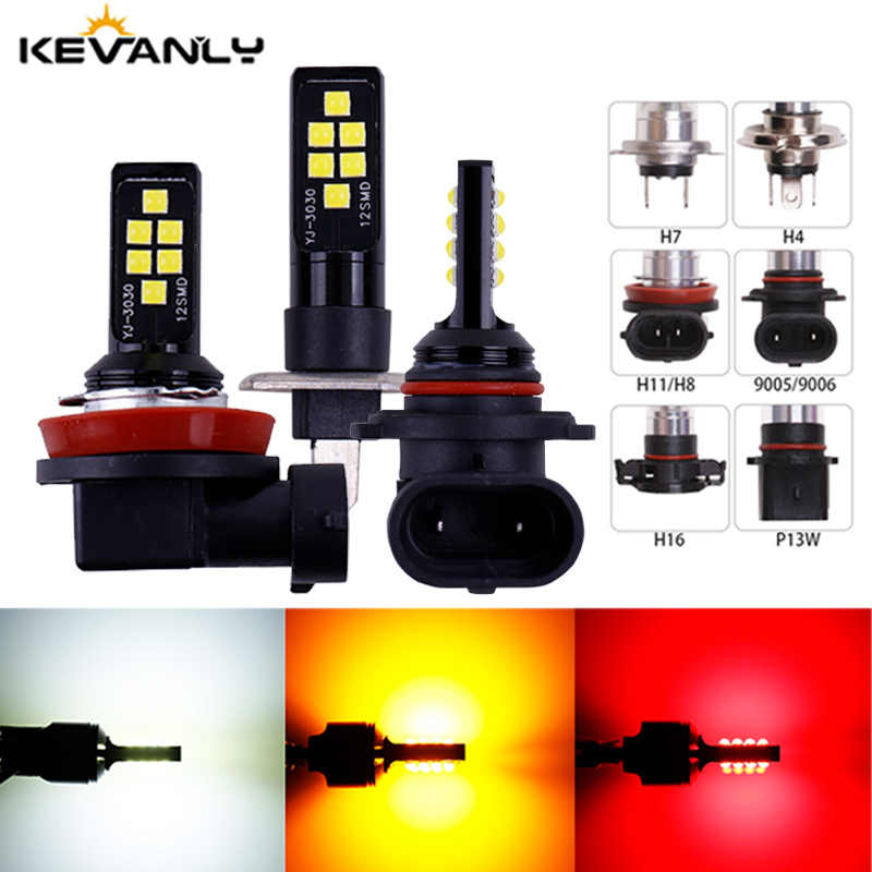 1PC P13W H11 H8 H4 H1 H3 H7 9005 9006 HB4 HB3 H16 5202 3030 Chips Fog Lights Bulb Car Driving Light Foglamps Auto Leds Lamp 12v