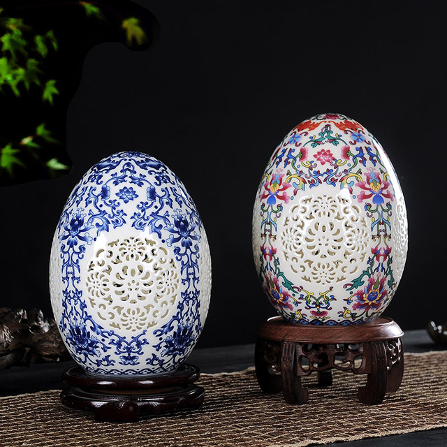 Decorative ornaments, hollowed out lucky eggs 2
