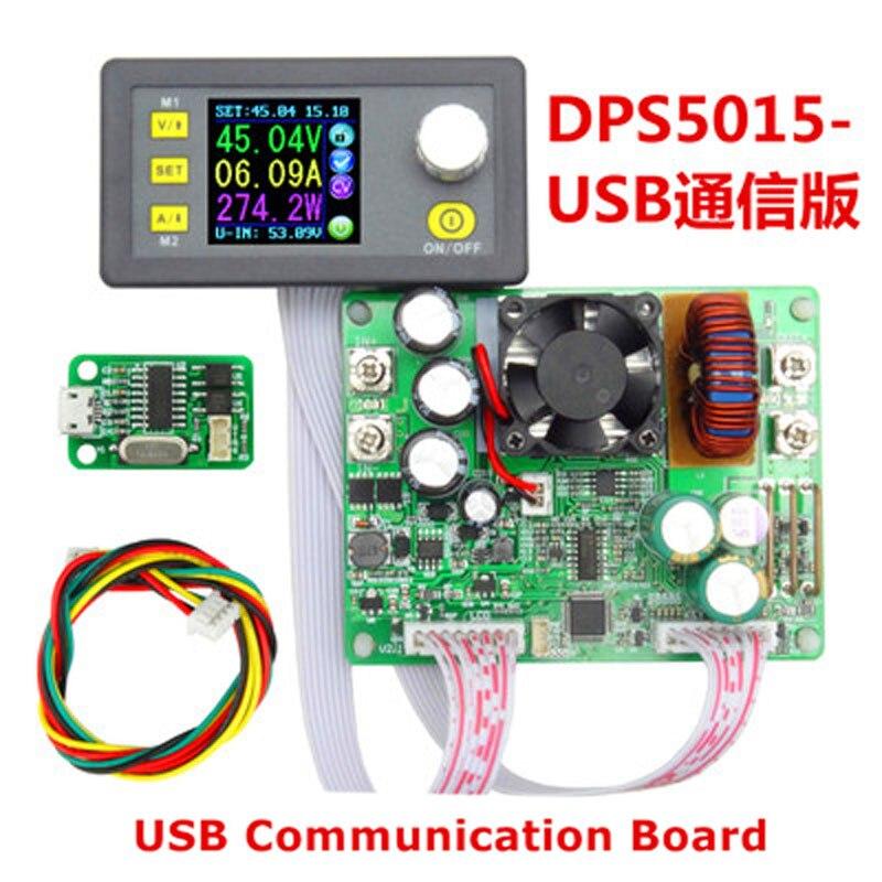 DPS5015 цифровой Управление источника питания 50 В 15A Регулируемая постоянная Напряжение USB Связь версия