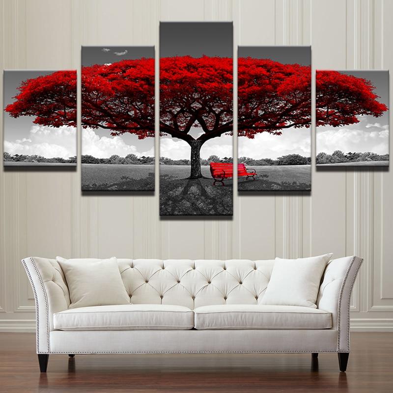 Lona HD impresiones decoración casera arte de la pared cuadros 5 ...