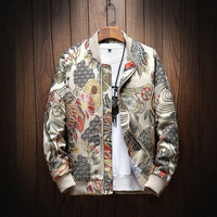 fashion Embroidery Men Jacket Coat Man Hip Hop Streetwear Men Jacket Coat Bomber Jacket Men Clothes