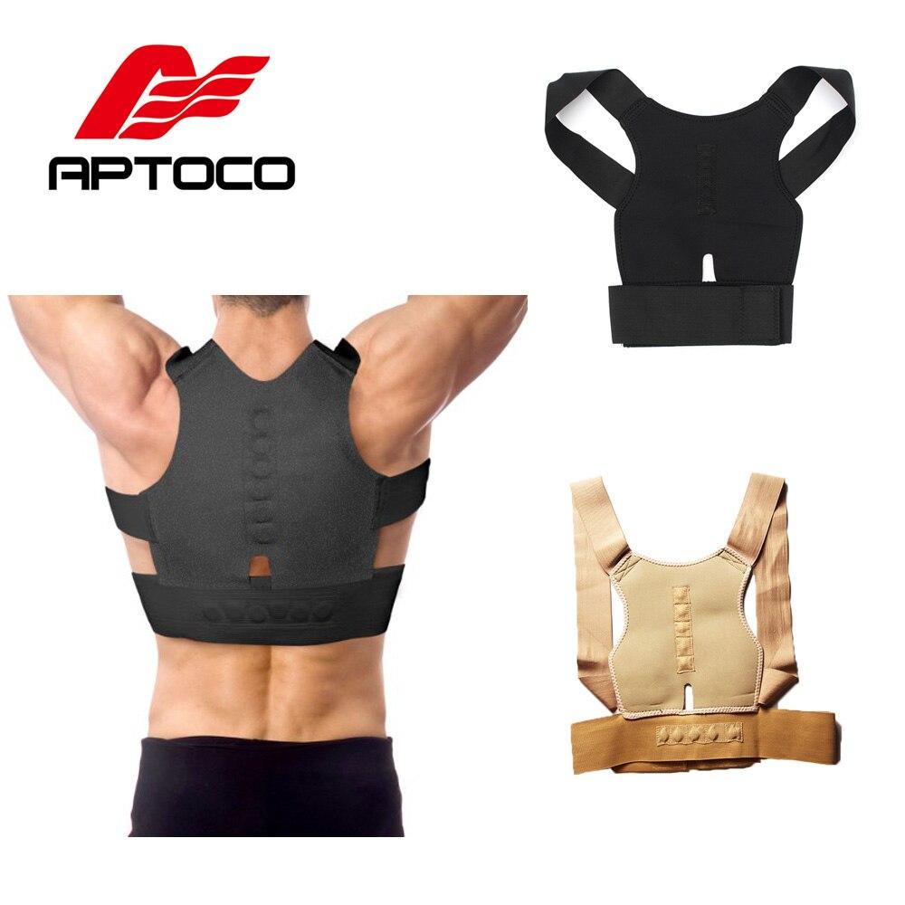 Aptoco Braces & Supports Adjustable Back Posture Corrector Belt Support Body Corrector Lumbar Shoulder Brace Belt for Man Women